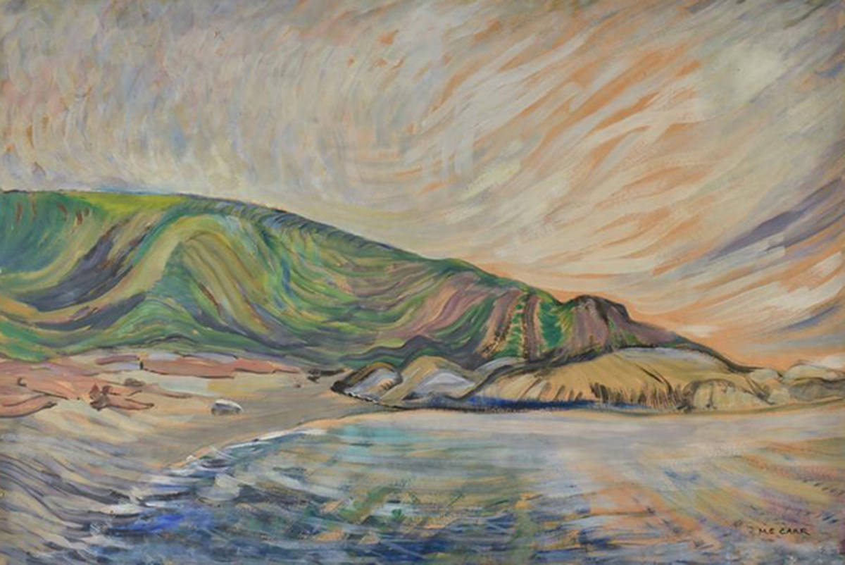 An untitled Emily Carr painting of Finlayson Point was donated to the Art Gallery of Greater Victoria by brothers Ian and Andrew Burchett. The painting had been in their family for several decades. (Courtesy of the Art Gallery of Greater Victoria)