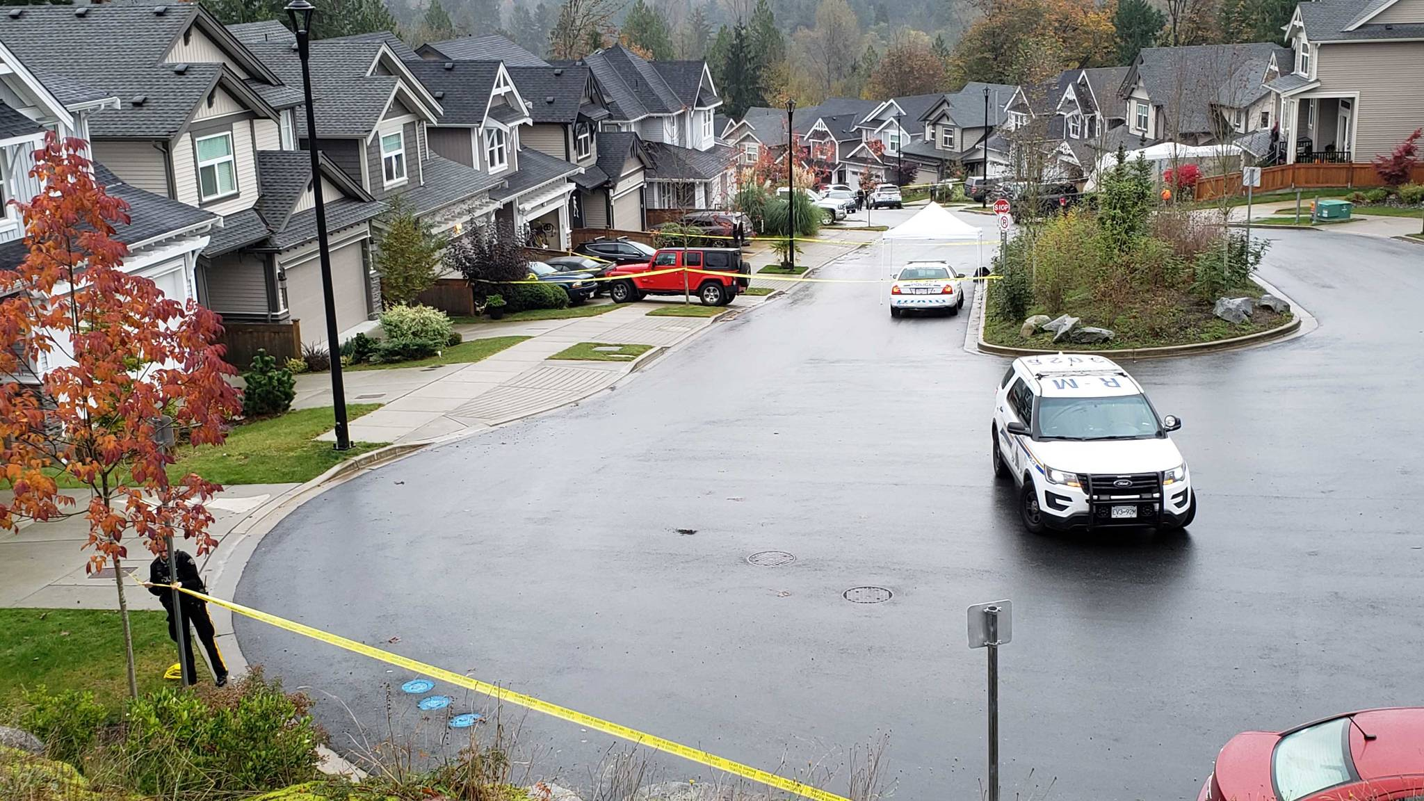 IHIT has been called to a home on Nelson Court in Maple Ridge on Thurs. Oct. 29, 2020 (Neil Corbett/ The News)