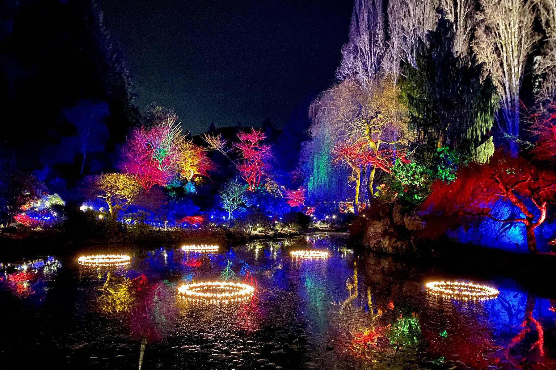 Can you spot all 12 Days of Christmas displays at the Butchart Gardens? Jen Blyth photo.