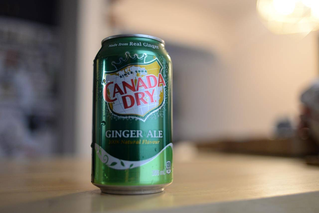 A can of Canada Dry Ginger Ale is shown in Toronto on Thursday Oct. 29, 2020. The maker of Canada Dry Ginger Ale has agreed to pay over $200,000 to settle a class-action lawsuit launched by a B.C. man who alleged he was misled by marketing suggesting the soda had medicinal benefits. THE CANADIAN PRESS/Joseph O'Connal