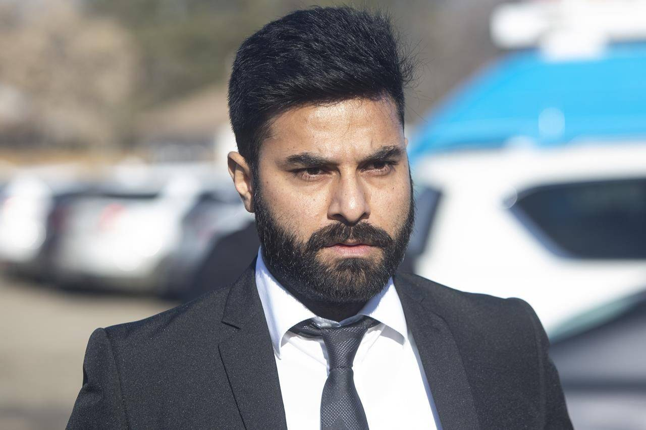 Truck driver Jaskirat Singh Sidhu walks into the Kerry Vickar Centre for his sentencing in Melfort, Sask., Friday, March 22, 2019. nbsp;A lawyer representing the truck driver responsible for the deadly Humboldt Broncos bus collision says he wants to stay in Canada once released from prison. nbsp; THE CANADIAN PRESS/Kayle Neis