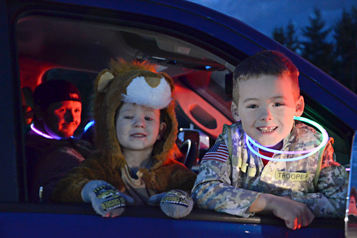 Gabriel and Elijah Anderson were excited about visiting SouthGate Church on Friday evening for its first Pumpkin Fest family evening which featured games, music, treats and costumes. ((Heather Colpitts/Langley Advance Times)