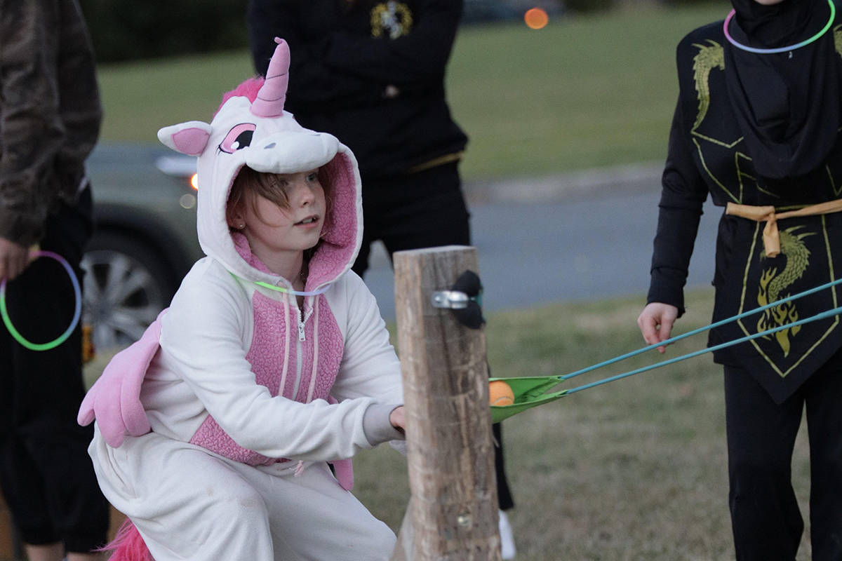 Kids could enjoy several games along with treats and prizes at the Southridge Church Pumpkin Fest (Craig Murphy and Jordan Beaumont/Southridge Church/Special to the Langley Advance Times)