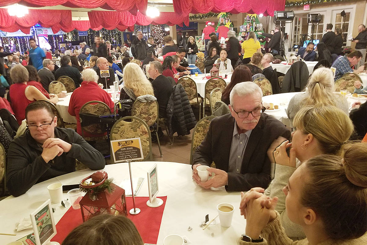 In 2019, a record number of 3,000 guests came to the third annual Christmas Wish Breakfast hosted at Newlands Golf & Country Club in support of the Langley Christmas Bureau. (Langley Advance Times file)