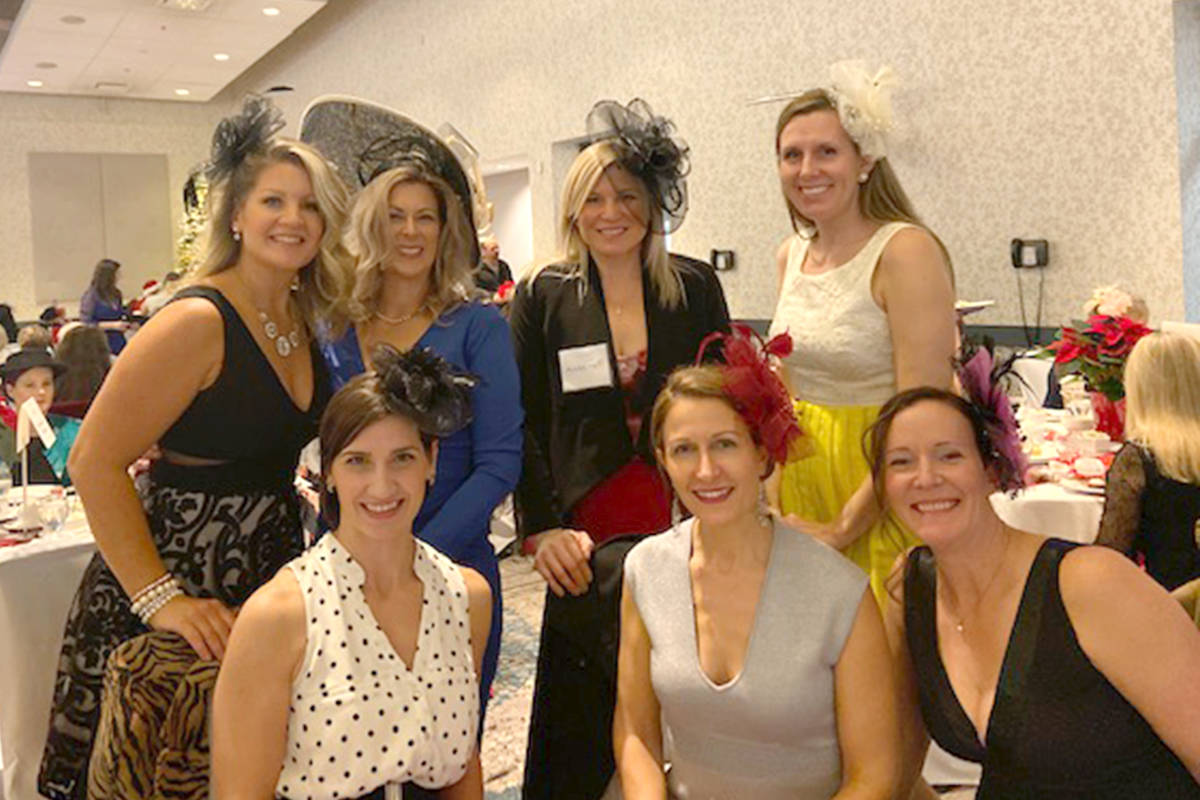In past years the tea has sold all of its 50o tickets well in advance. The event allowed people to dress up with many of the women wearing fascinators. This year's event is virtual and people sign up online. (Langley Advance Times files)