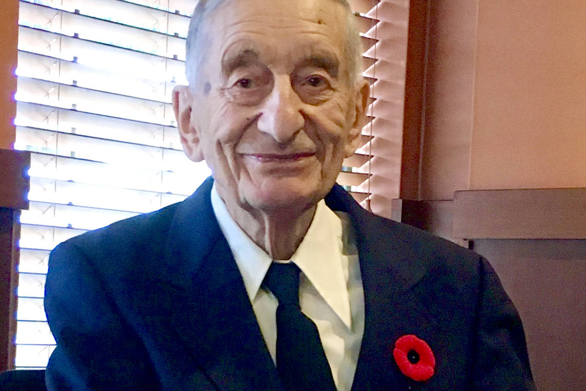 Aldergrove resident and Second World War Veteran Jack Airone. (Courtesy Airone family)
