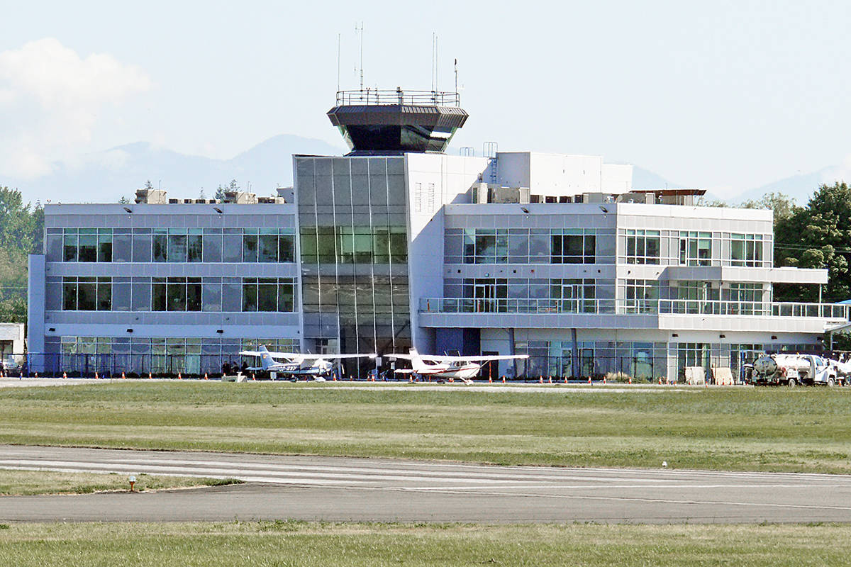 Langley Regional Airport terminal building is among the additions in recent years. (Langley Advance Times)