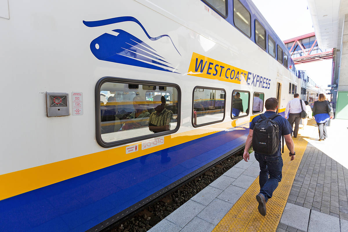 Ridership on the West Coast Express has grown from 5,000 to 12,000 per day over the past 25 years. (Special to The News)