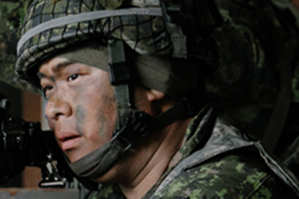 Cpl. James Choi, of the Royal Westminster Regiment in New Westminster, B.C., is seen in an undated handout photo. Choi was shot late Friday night while taking part in live-fire training at CFB Wainwright, according to the Canadian Armed Forces. THE CANADIAN PRESS/HO-Department of National Defence, *MANDATORY CREDIT*
