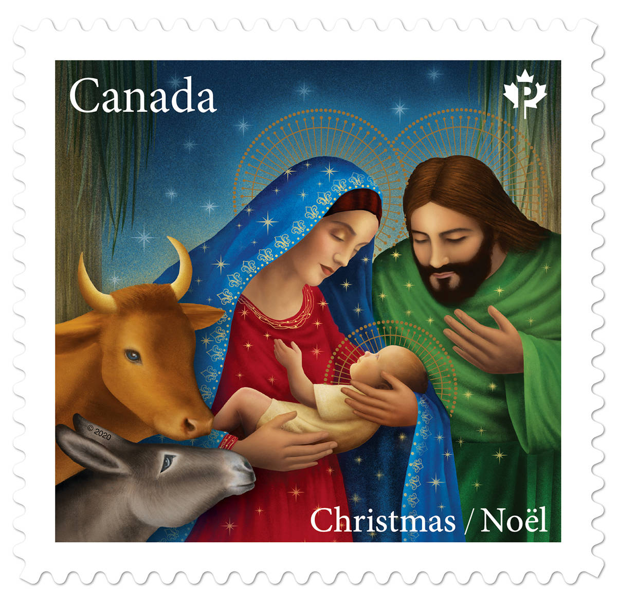 The Christmas Nativity stamp from Canada Post for the 2020 holiday season. (Canada Post)