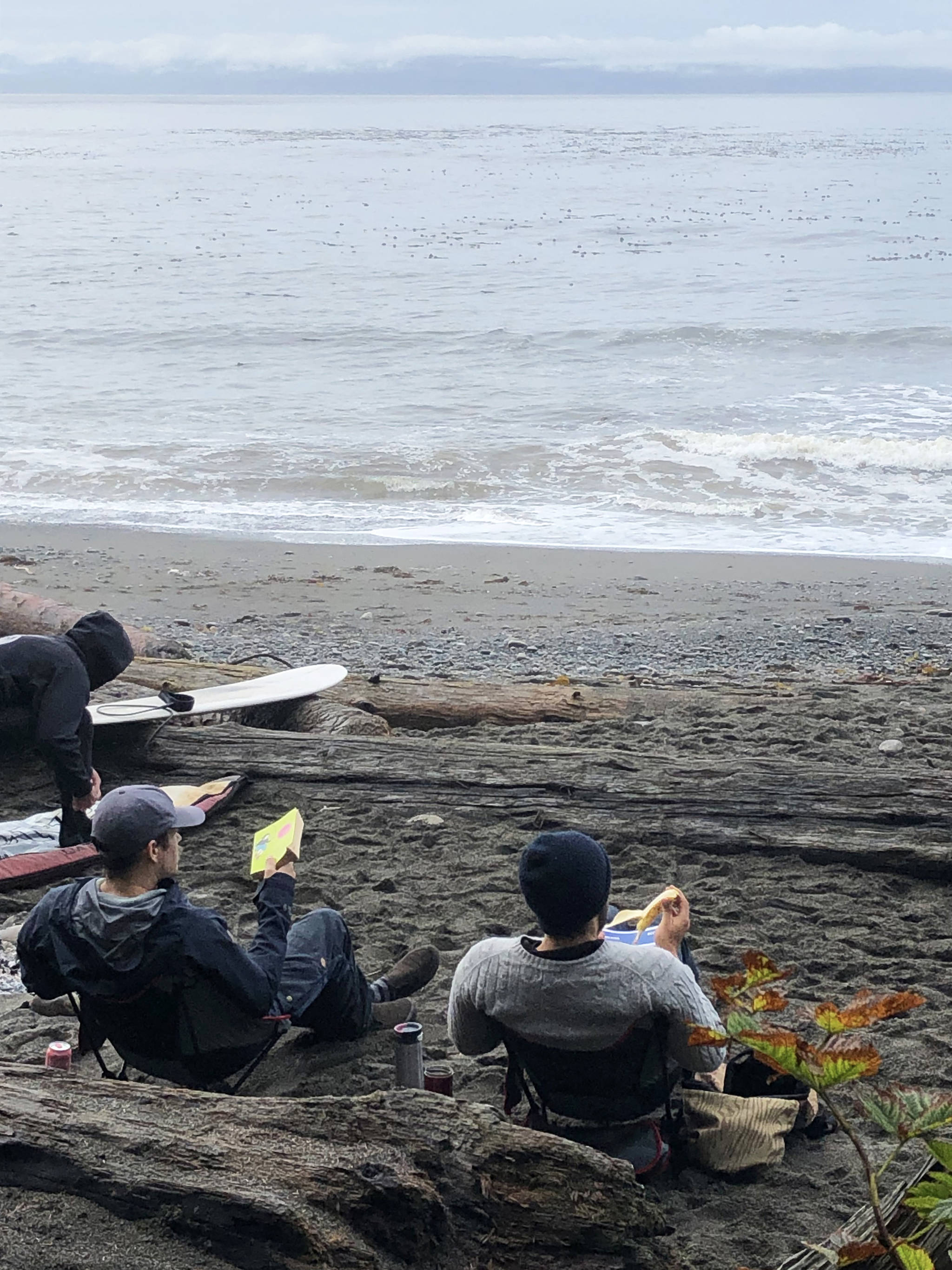 Resting before catching the next wave at Sombrio Beach. Amy Attas photo