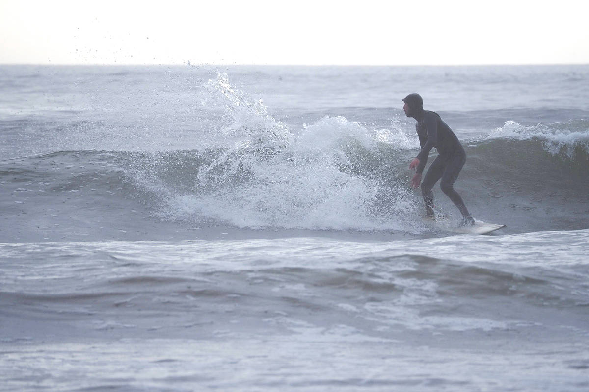 Surfing at Sombrio River is said to be best in October. Mandatory credit: Fiona Anderson/Triumph Social Media