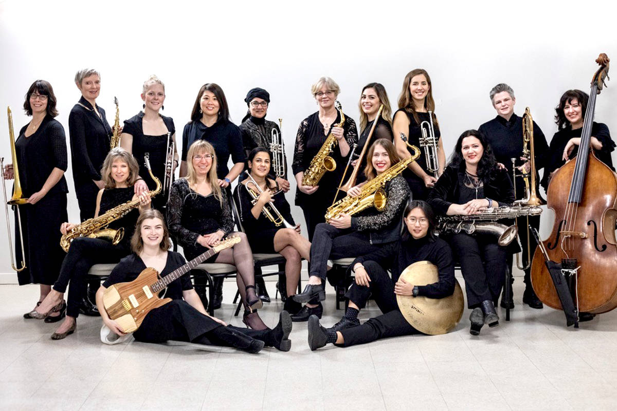 Sister Jazz Orchestra brings together the top female jazz musicians in Vancouver in a powerhouse 18-woman big band ensemble. (Fort Langley Jazz Festival/Special to the Star)