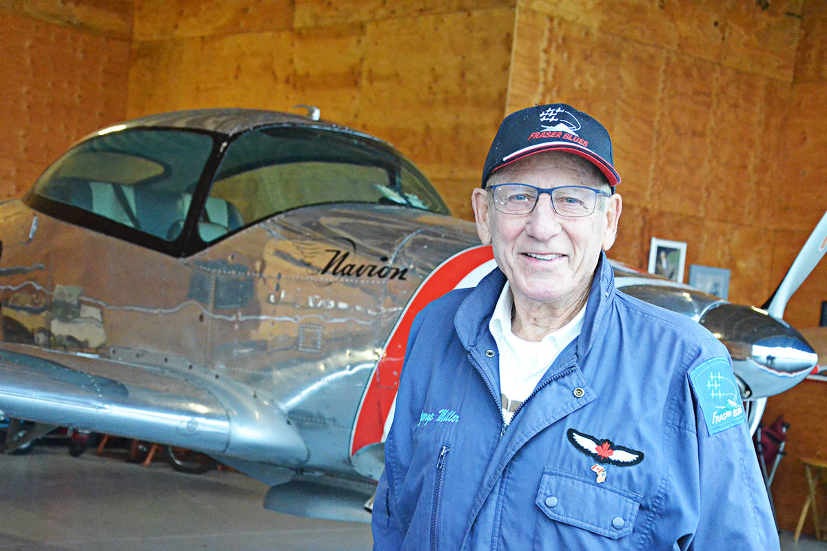 George Miller has been the head of the Snowbirds aerobatics team and manager of the Langley Regional Airport. Now retired, he's still flying as leader of the Fraser Blues team. (Matthew Claxton/Langley Advance Times)