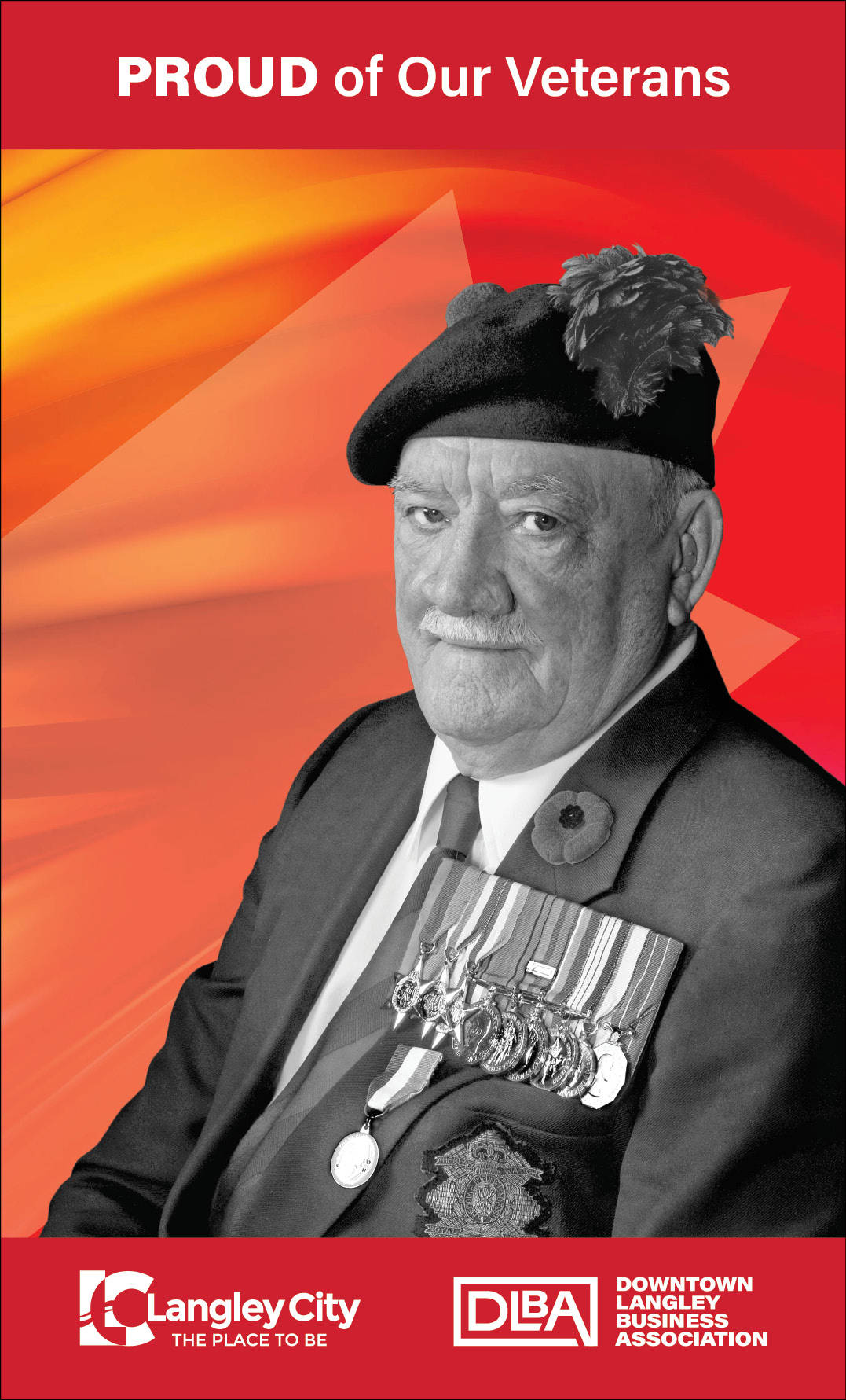 H.D. Freeston, veteran featured on Downtown Langley Business Association Remembrance Day banner. (Downtown Langley Business Association/Special to Langley Advance Times)