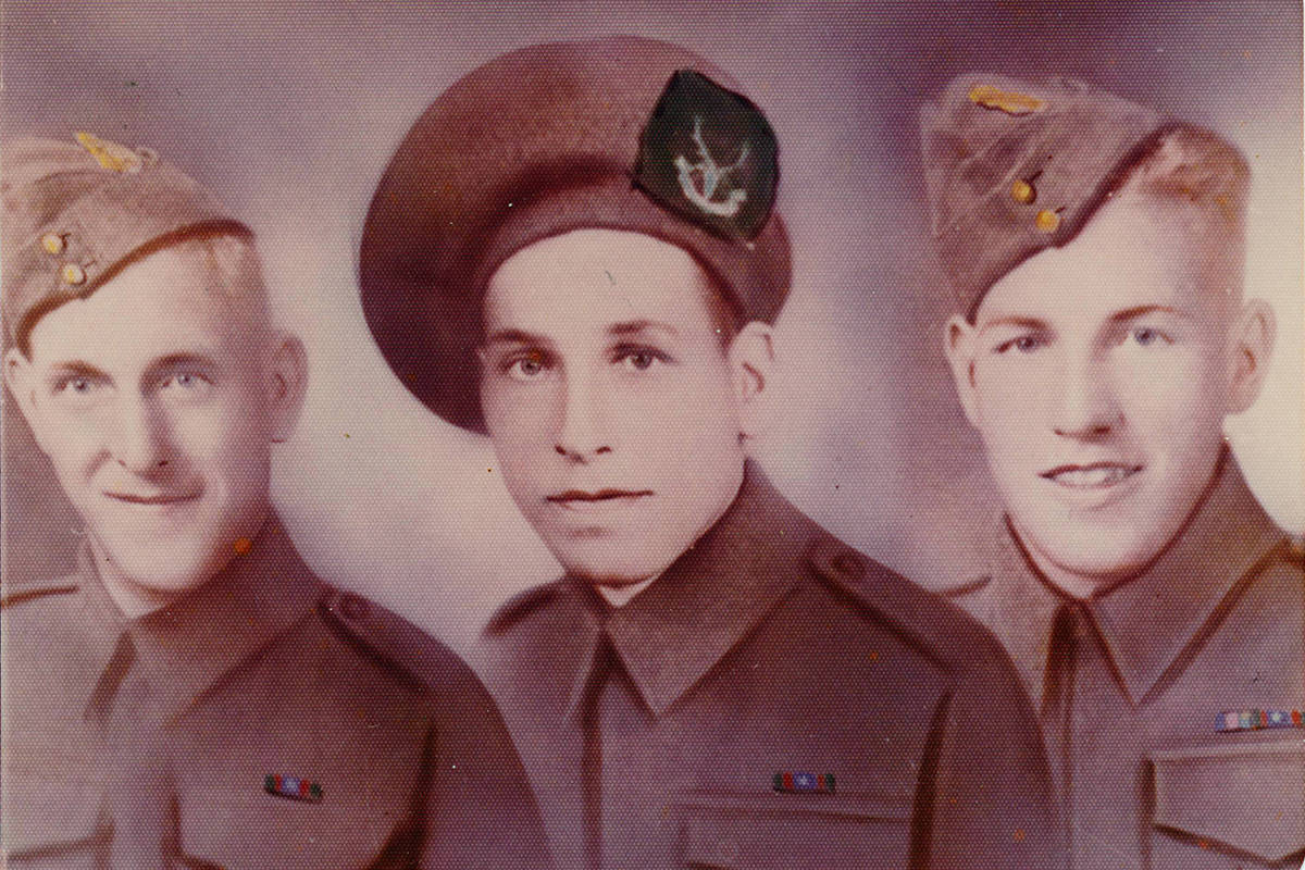 Milner residents Harry and Sylvia Kimmel lost three of their sons during the Second World War. Left to right: Richard, Gordon, and Clifford. Richard and Gordon died 10 days apart at Normandy.