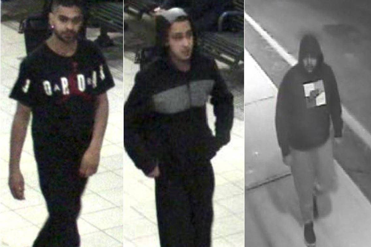 Images released by police in Ontario in March 2018 show the three men who assaulted a man with autism: (from left) Ronjot Dhami, Parmvir Chahil and Jaspaul Uppal.