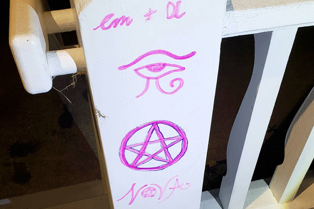 Someone vandalized the Telephone Museum and Archives in Aldergrove. (Tami Quiring/Special to the Aldergrove Star)
