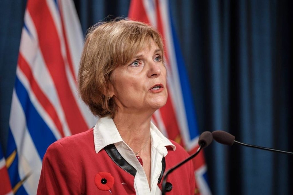 B.C. Seniors Advocate Isobel Mackenzie describes the findings of her survey of long-term care and assisted living residents under pandemic restrictions, B.C. legislature, Nov. 3, 2020. (B.C. government)