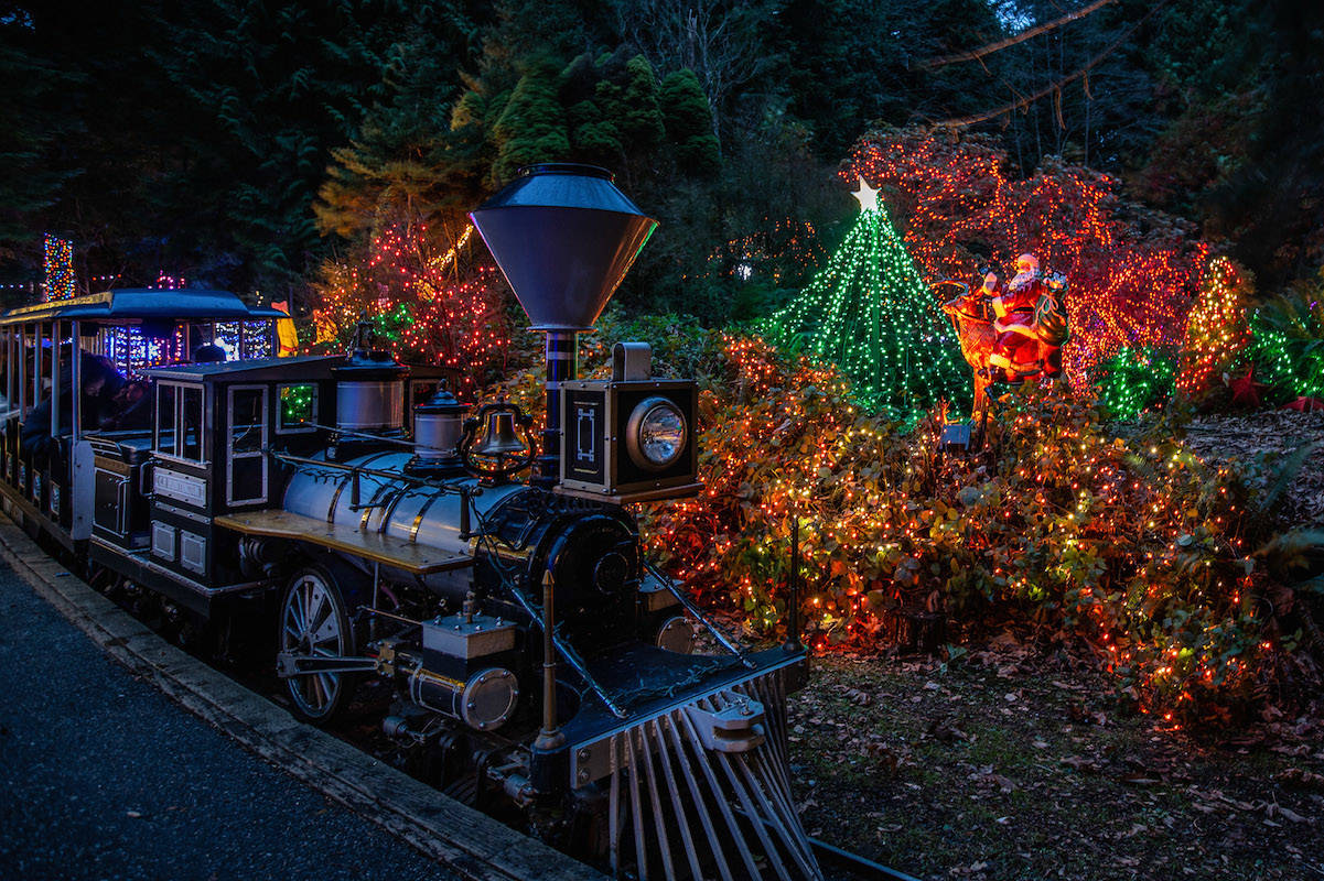 The Bright Lights Christmas Train at Stanley Park. (submitted photo: Vancouver Park Board)
