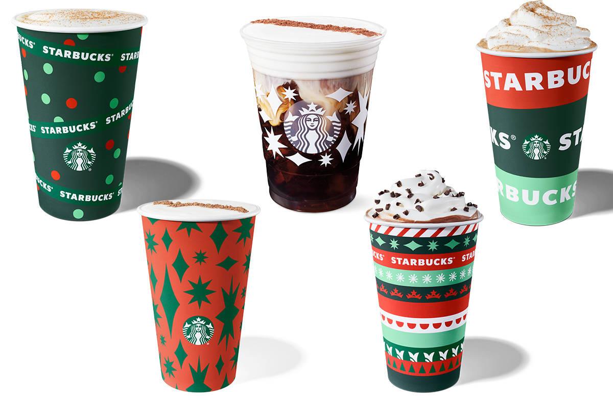 Starbucks holiday cups for the 2020 season. (Starbucks)