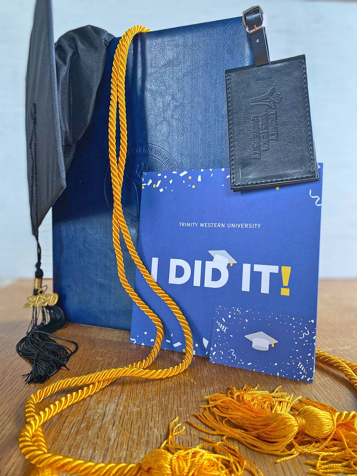 Trinity Western University sent graduation packages to more than 1,100 students who will take part in a virtual ceremony on Saturday, Nov. 7. (TWU)