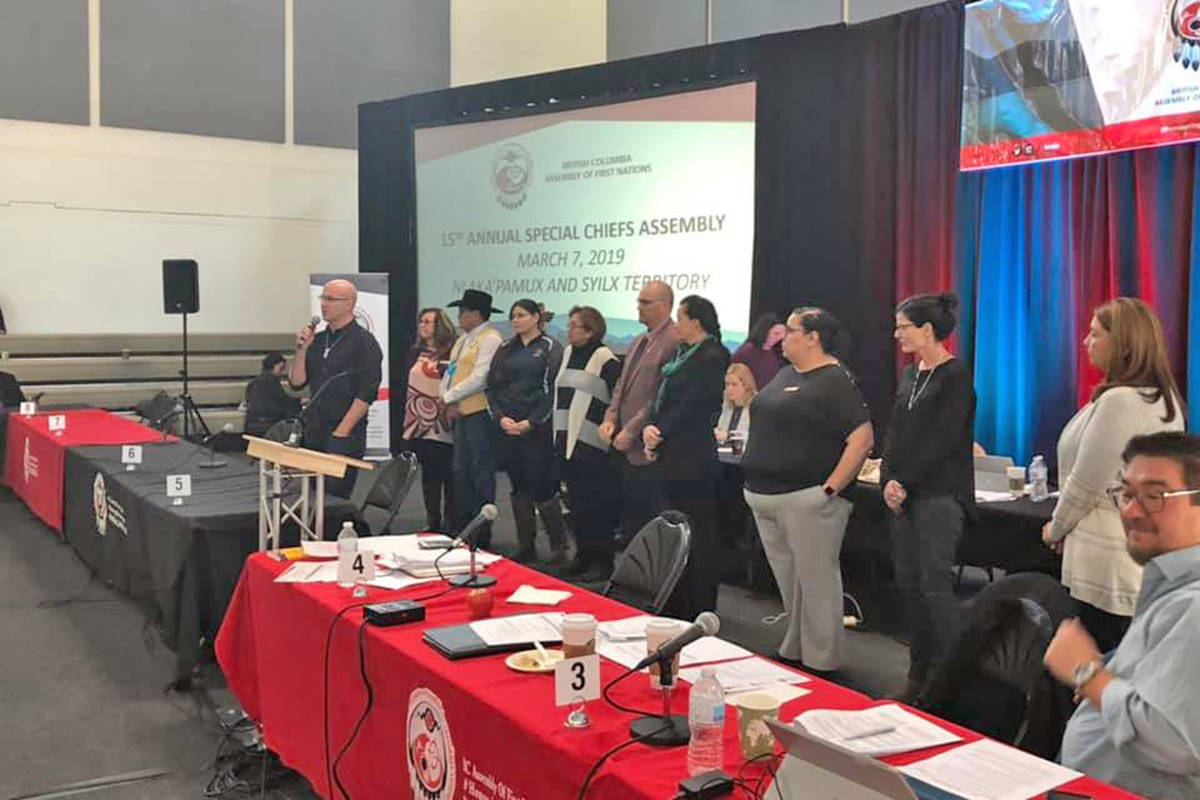 The BCAFN hosted its 15th annual special Chiefs assembly in March 2019 in Merritt. (BC Assembly of First Nations Facebook photo)