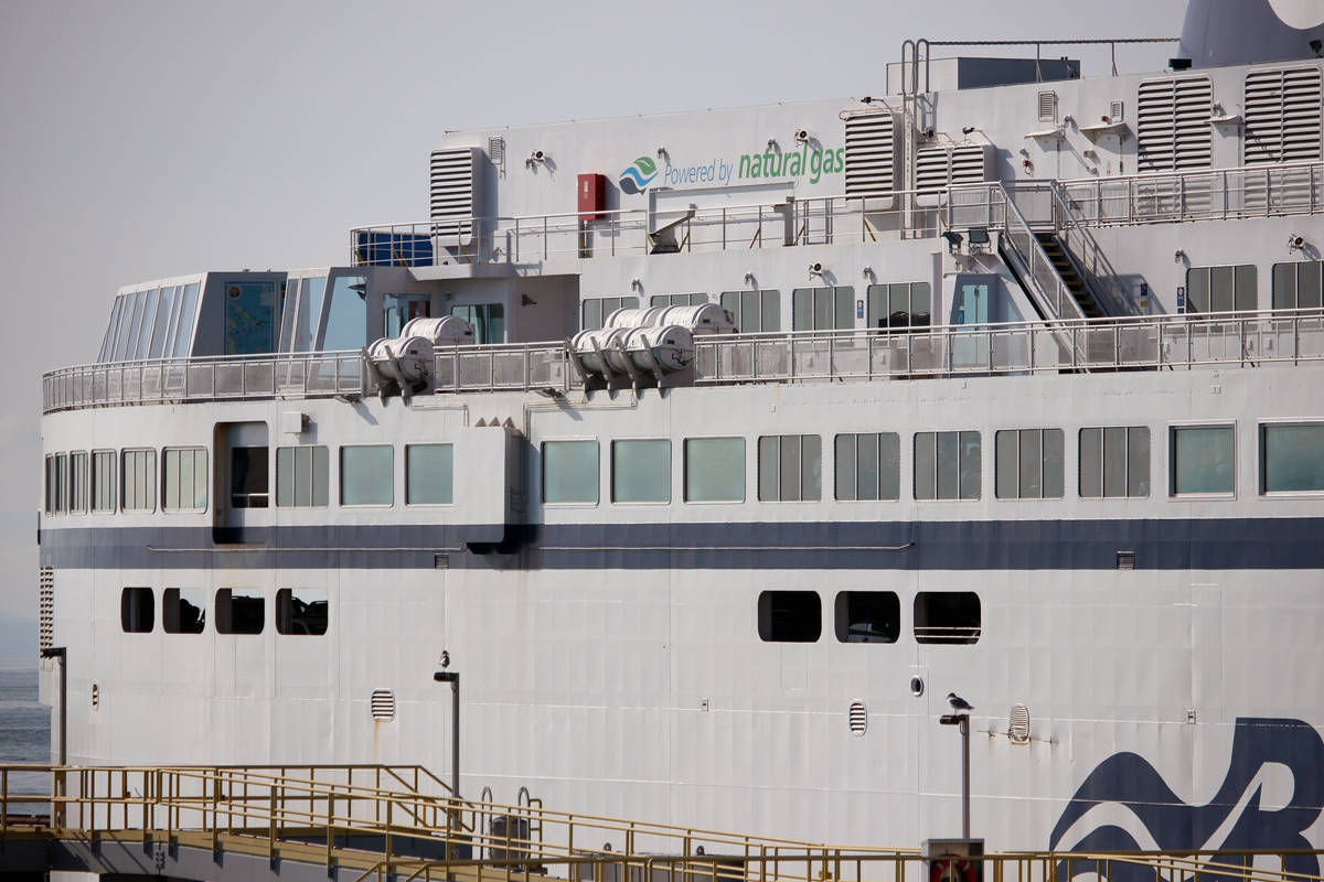 A BC Ferries vessel at the Tsawwassen terminal. (News Bulletin file photo)