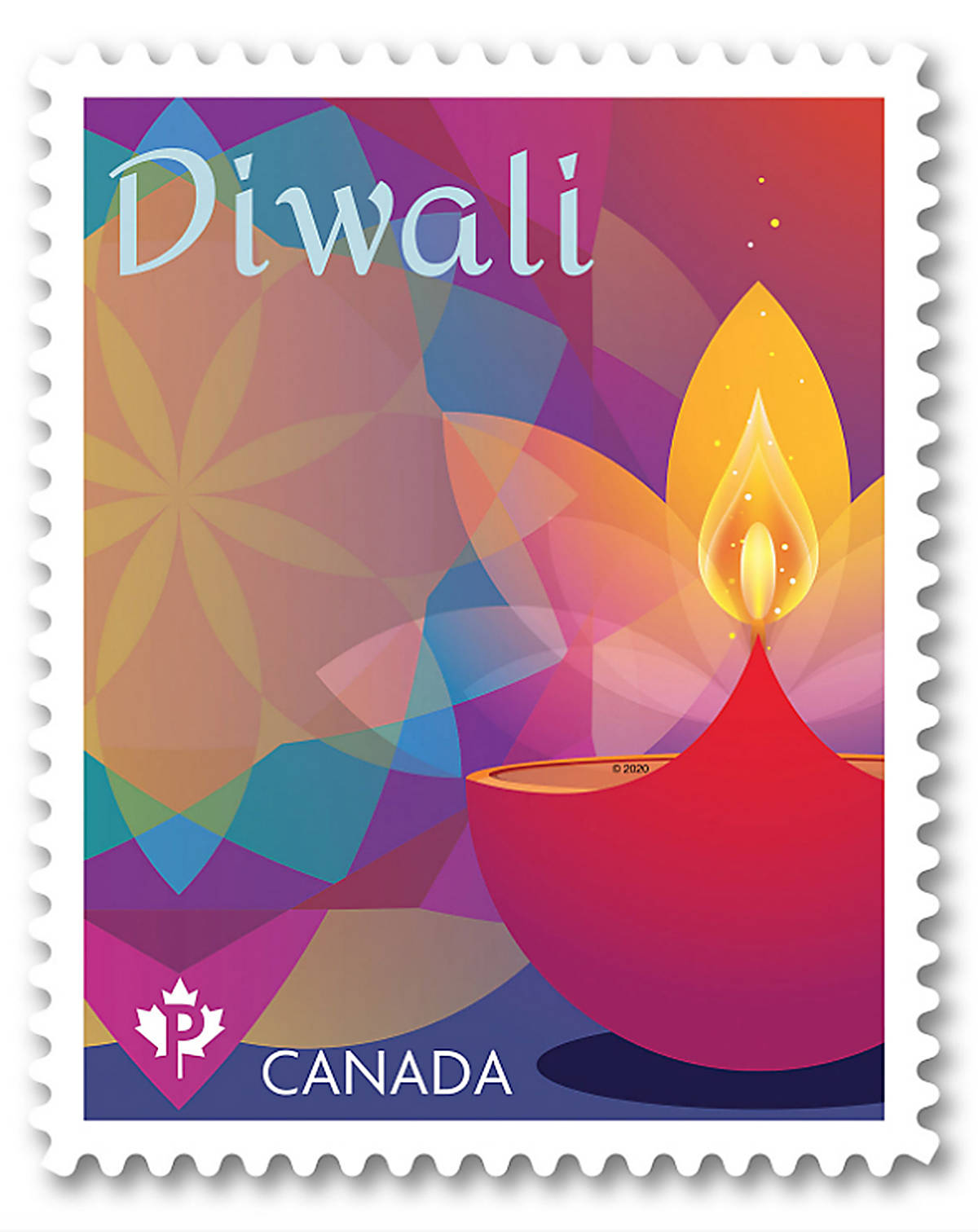 Canada Post's new Diwali-themed stamp. (Photo: canadapost.ca/shop)