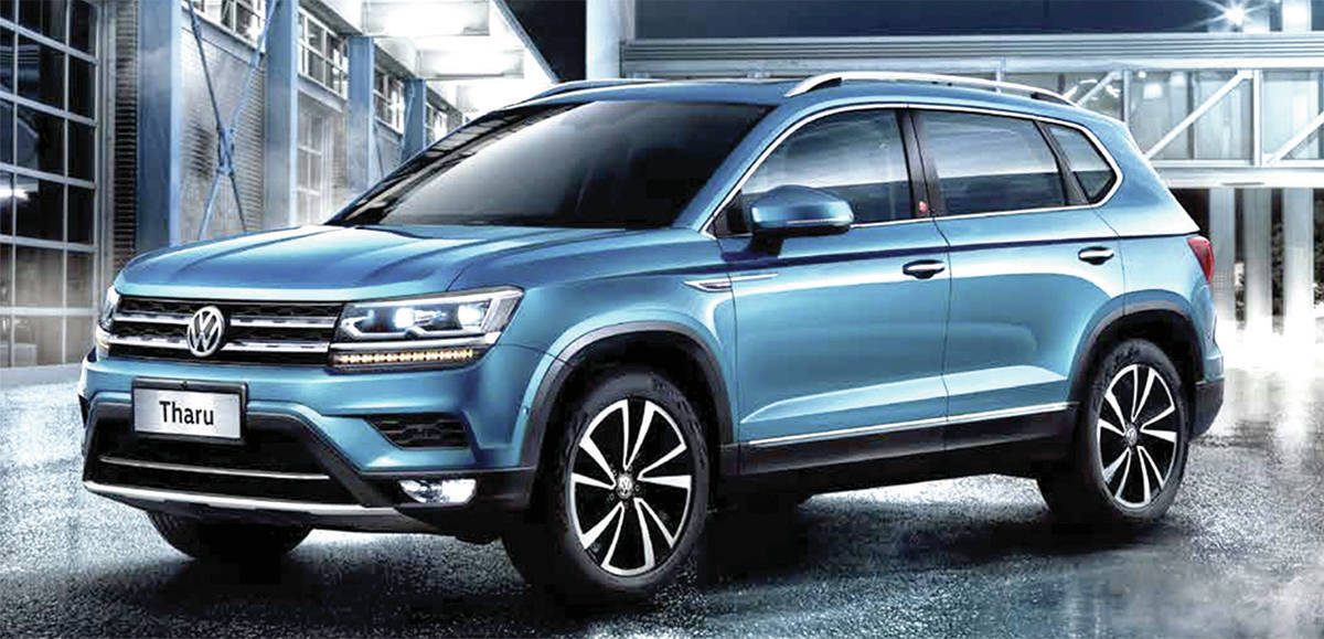 The upcoming Volkswagen Taos will slot in below the Tiguan. It will look similar to the Tharu (pictured) that's sold outside of North America. PHOTO: VOLKSWAGEN