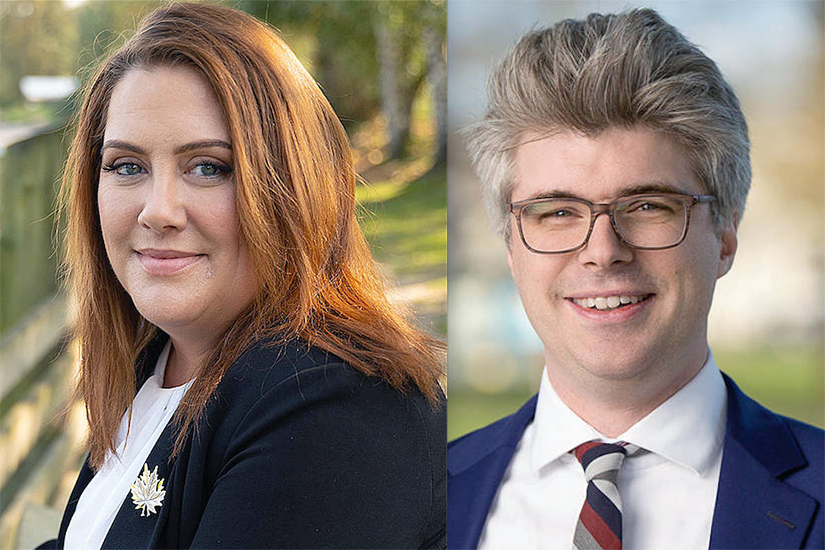 Megan Dykeman and Andrew Mercier have ended a decades-long drought for the NDP by taking both Langley ridings. (File)
