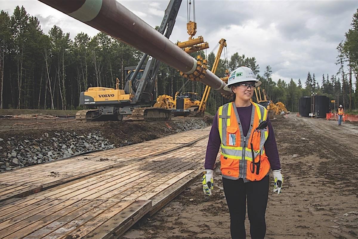 Project engineer Elise Chow-Stiefvater works on Coastal GasLink's Kitimat site. (Coastal GasLink)