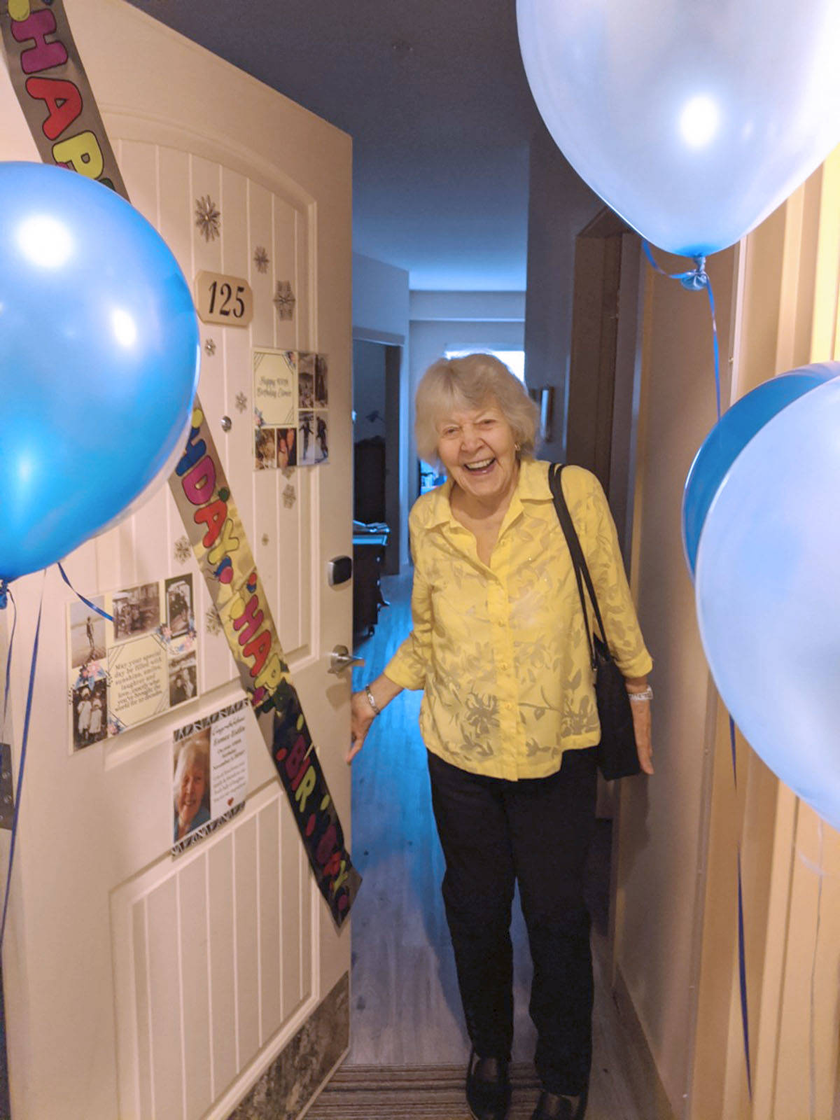 Esmée Estlin lives at Avalon Gardens retirement complex where residents celebrated her birthday. She turned 100 on Nov. 5. (Avalon Gardens/Special to the Langley Advance Times)