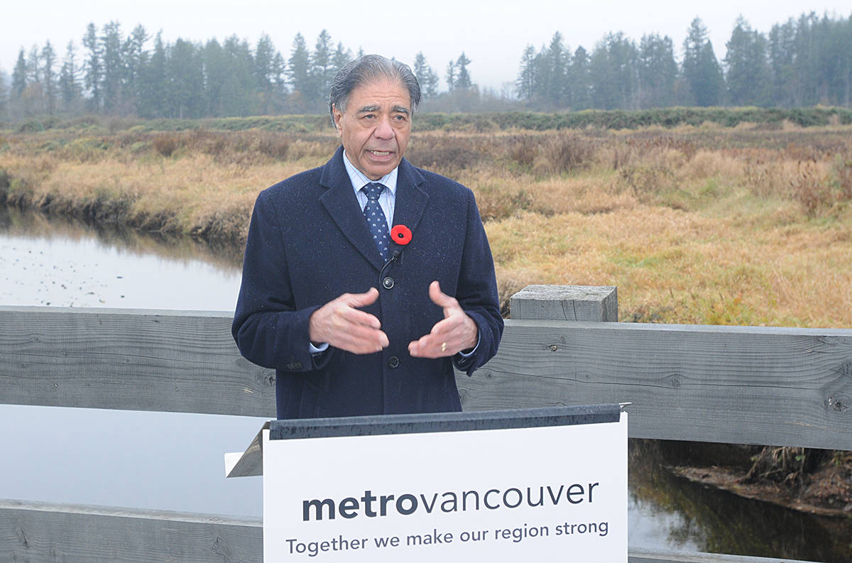 Sav Dhaliwal, Chair, Metro Vancouver Board of Directors. (Neil Corbett/The News)