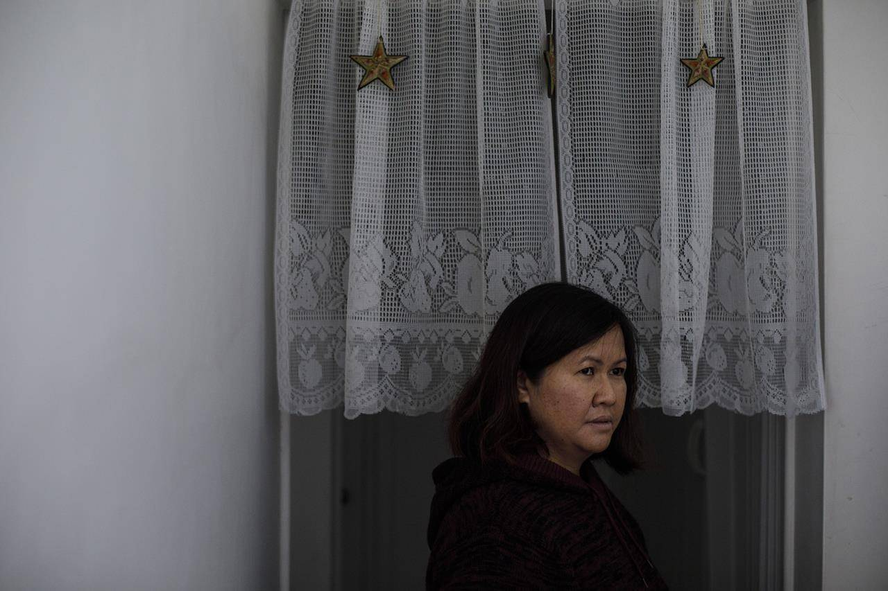 Edeline Agoncillo is pictured in Edmonton on Saturday October 24, 2020. Agoncillo has been under a lot of pressure during the pandemic, working when she can and collecting CERB, but still needs to send money back to family in the Philippines. THE CANADIAN PRESS/Jason Franson