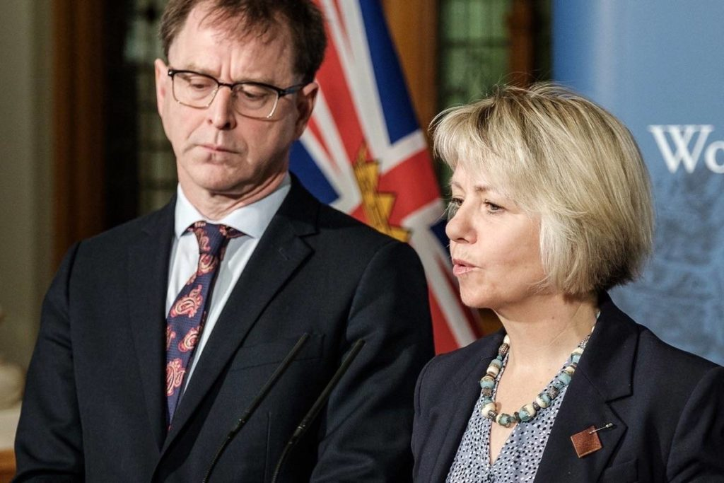 B.C. Health Minister Adrian Dix and Provincial Health Officer Dr. Bonnie Henry. (B.C. government)
