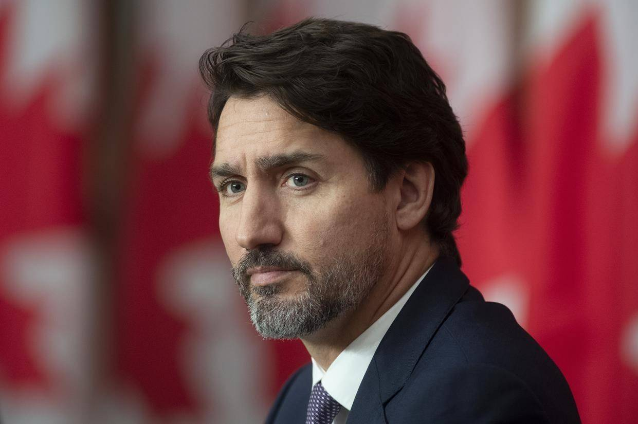 Prime Minister Justin Trudeau attends a news conference Friday October 23, 2020 in Ottawa. THE CANADIAN PRESS/Adrian Wyld