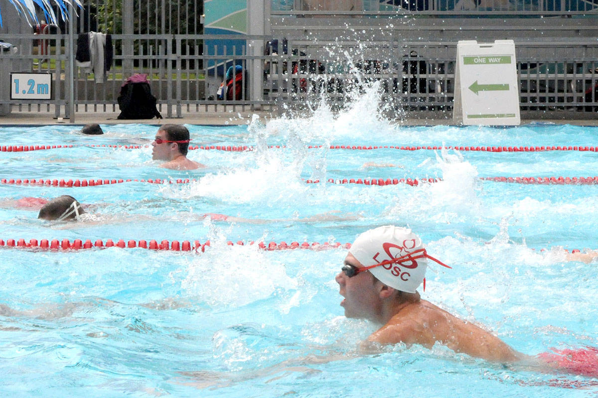 LOSC swimmers have been working out at the Al Anderson pool in Langley City since that pool reopened and the Walnut Grove and W.C. Blair pools in Langley Township, where they usually train, stayed closed. (Langley Advance Times file)