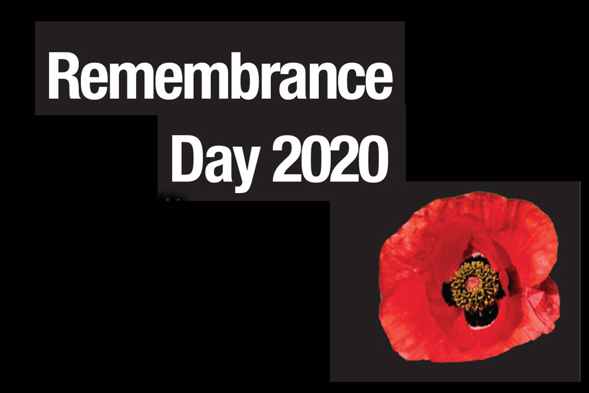 People are being asked to watch local Remembrance Day services online at home. (Langley Advance Times graphic)