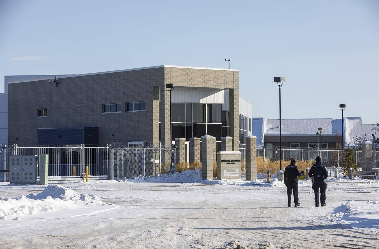 The Edmonton Institution for Women in Edmonton is shown on Wednesday Nov. 11, 2020. The Correctional Service of Canada says five inmates have tested positive for COVID-19 in Quebec, Manitoba and Alberta. THE CANADIAN PRESS/Jason Franson