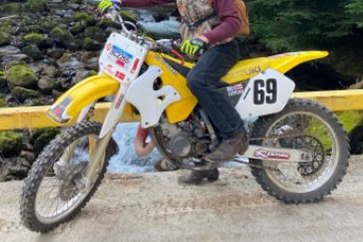 Police are looking for this stolen dirtbike. (Langley RCMP/Special to the Langley Advance Times)