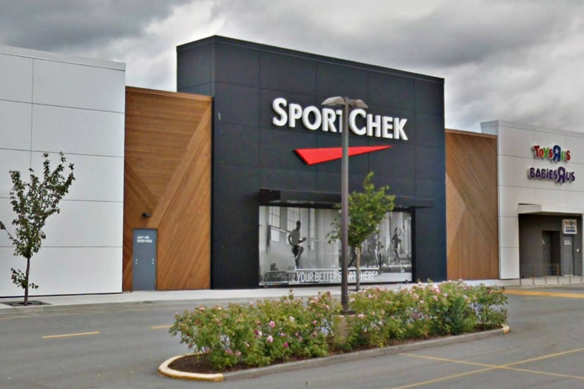 The Langley Sport Chek closed one day for cleaning after a positive test of a staff member. (Google Maps)