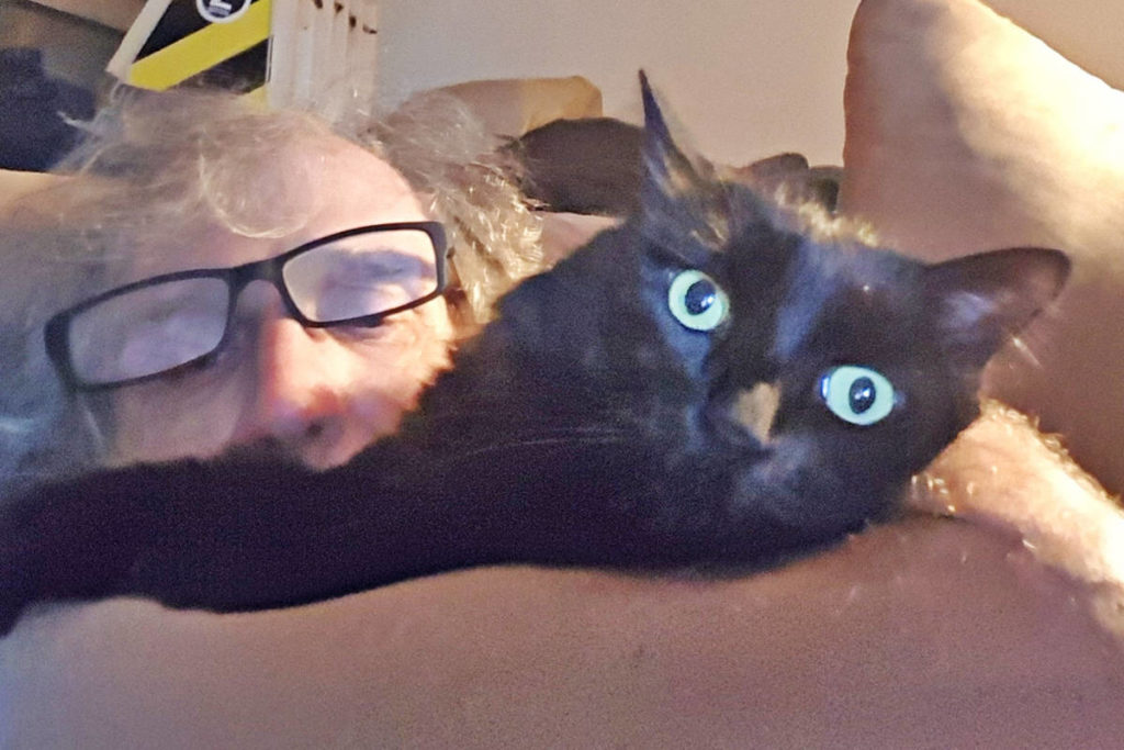 Local resident Danny Halmo has reached out to acknowledge the help he's received so that he can keep his cherished cat fed and healthy. (Halmo photo/Special to the Langley Advance Times)