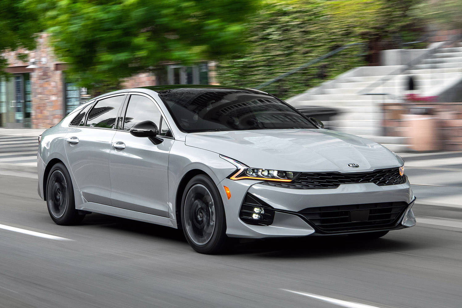 The 1.6- and optional 2.5-litre four-cylinder engines are both turbocharged and they both come with eight-speed transmissions, although the 2.5's is a different design. PHOTO: KIA
