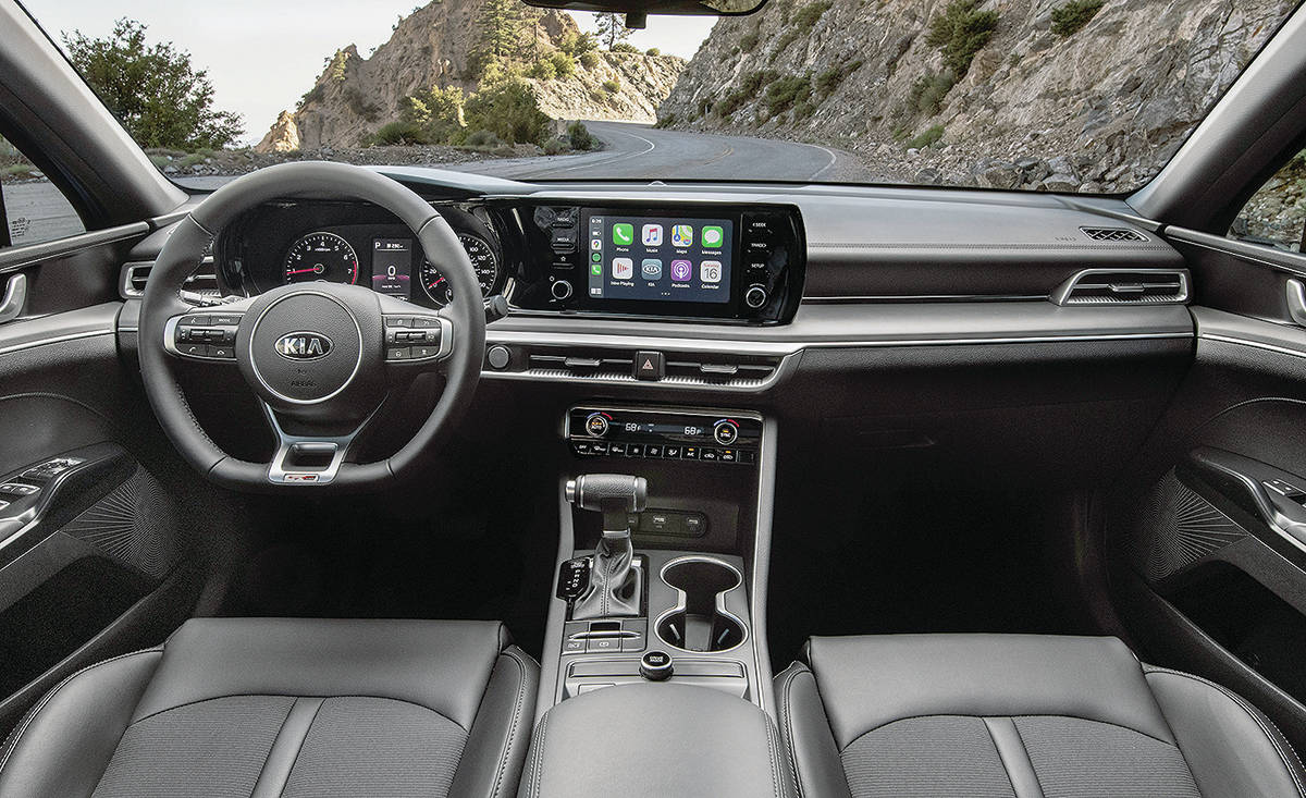 The Optima made big strides in terms of interior design for Kia and the K5 brings it up another notch. With two five more centimetres between the front and rear wheels, the K5 is also roomier. PHOTO: KIA