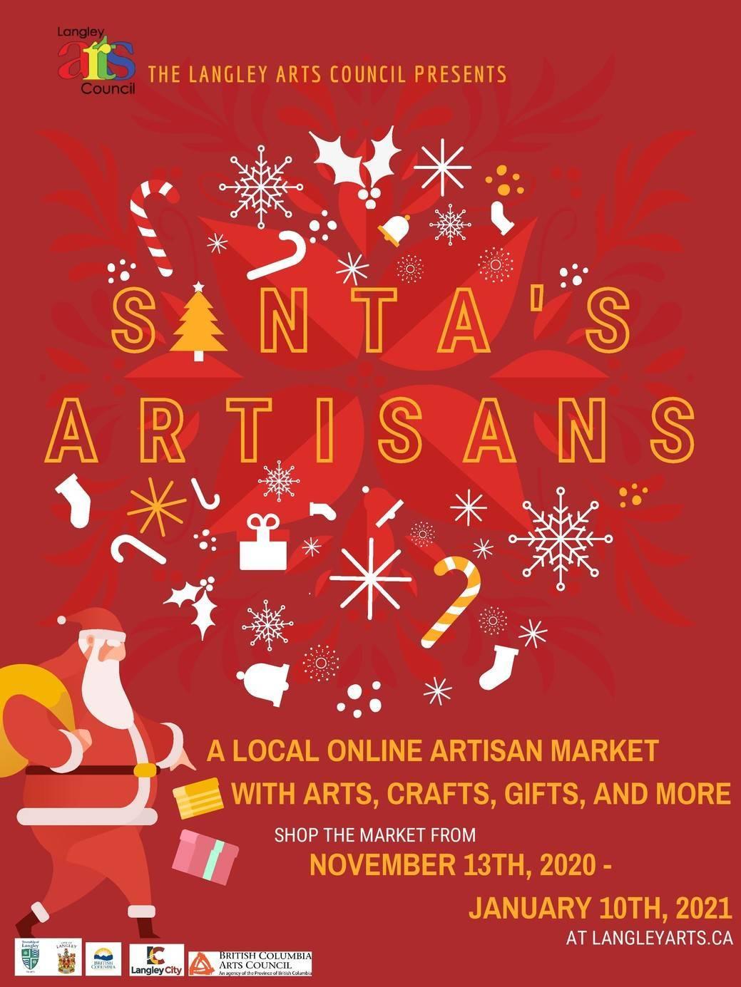 Langley Arts Council's online Christmas market runs from Nov. 13 to Jan. 10. (Langley Arts Council/Special to The Star)