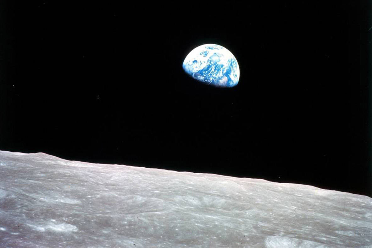 A letter writer encourages people to think globally and act locally to save the environment and the life that depends on it. (NASA)
