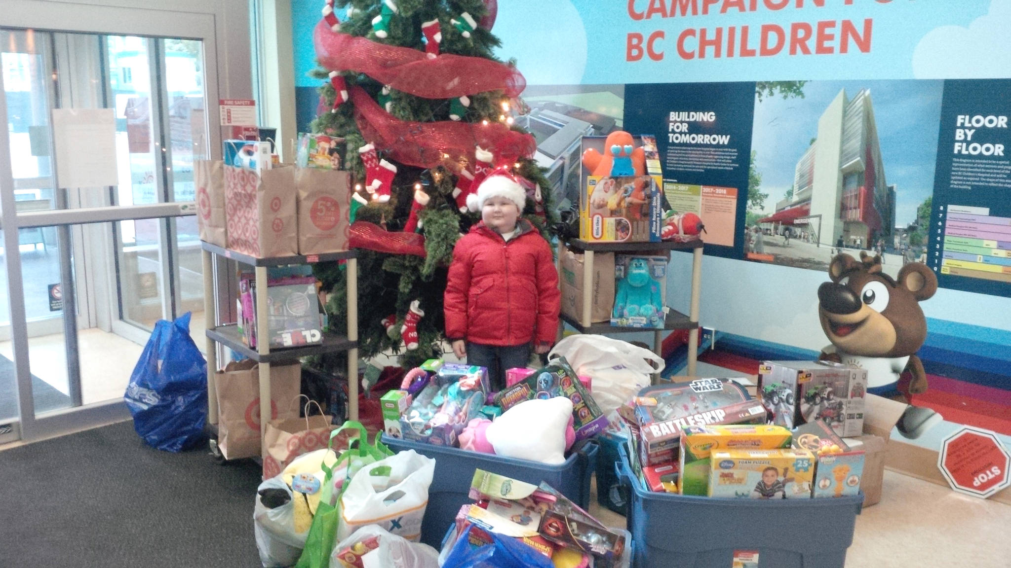 Before passing away in January 2014 Keian Blundell delivered toys to children at the hospital who couldn't come home for Christmas. (Blundell family/Special to Langley Advance Times.)