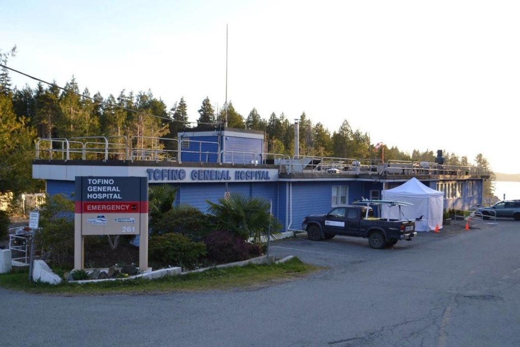 The Tofino General Hospital has 10 in-patient beds and five stretchers. (Westerly file photo)