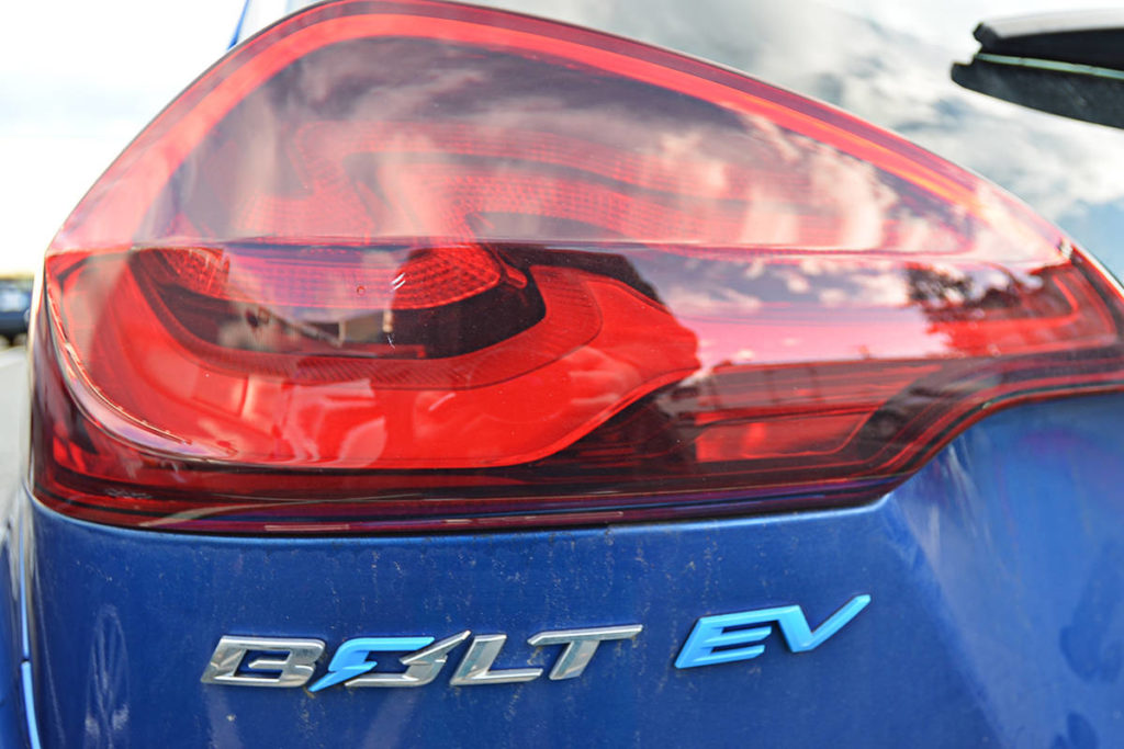 GM has issued a voluntary recall of Chevy Bolt electric vehicles with batteries made in Korea. Owners can check their VIN to see if their vehicle is part of the recall. (Heather Colpitts/Black Press Media)